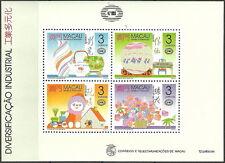 China Macau - Industrie und Handwerk 1990 postfrisch Mi. 649-652 Block 14