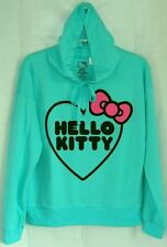 Hello Kitty Pullover Sweatshirt GREEN VALENTINE GIFT FREE SHIPPING XSMALL NWT