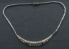 Best Quality 925 Sterling silver Mother of Pearl shaped Cleopatra choker 15""
