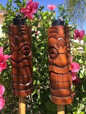 NEW Pineapple Head Tiki torch set bar mug Smokin Tikis Hawaii Seconds 22417