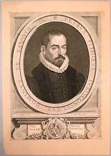 """Burin de Pieter van SCHUPPEN """"Petrus Pithoeus"""" d'après Simon VOUET"""