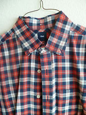 GAP Red White Blue Plaid Long-Sleeved Shirt Button Down  Fresh from Cleaners   M