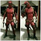 New Marvel Avengers Halloween Lycra Spandex Full Body Deadpool Cosplay Costume