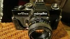 Minolta SRT 202 Camera 1:2.8 f=28mm lense w flash 118x