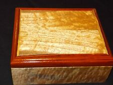EXOTIC HIGHLY CURLY MANGO & COCOBOLO JEWELRY BOX , LACQUER FINISH