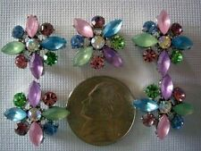 2 Hole Slider Beads X-Flower Light Mix Crystal Made with Swarovski Elements #5