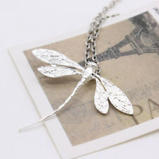 Silver Dragonfly Necklace Pendant 19inch Sweater Chain Elegant Design Hot Slae