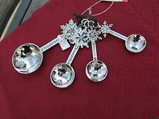 Ganz Measuring Spoons - Snowflakes Four Designs Set 4 Silver Zinc Beautiful!