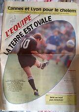 L'Equipe Journal du 3/10/1991; Cannes et Lyon pour le Chelem/ La terre est Ovale