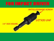 "1/4"" Hex ADAPTER for Hitachi AEG MILWAUKEE GMC PANASONIC METABO Impact Driver"