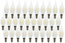 LUXON 2W  flame tip LED light bulb for chandelier & candelabra 2700k PACK OF 30