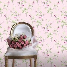 Tivoli Pink Rose Wallpaper Traditional Floral Design by Rasch 209310