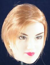 Gorgeous Oriental Beauty Custom Head Sculpt with Flapper Style Golden Brown Hair