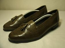 STANLEY BLACKER ITALY BROWN LEATHER LOAFERS CASUAL SHOES / SIZE 7.5 D MEN'S