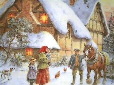 """DAVENPORT 8.1/2"""" PLATE  A GOLDEN CHRISTMAS  BRINGING HOME THE TREE"""