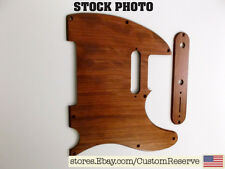 CR® WOOD PICKGUARD & CONTROL PLATE FOR FENDER TELECASTER GUITAR - EXOTIC BUBINGA