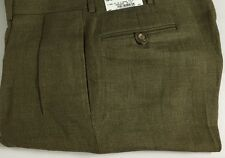 Ralph Lauren Polo Dalton Dress Pants Mens 34 Regular Flax Linen Green New