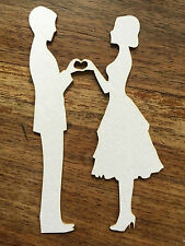 COUPLE IN LOVE Die Cuts Quality Card ART/CRAFT
