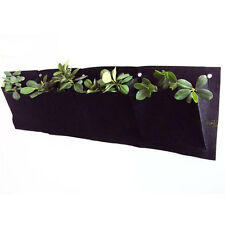 Non-woven hanging wall garden 4 Pockets planting bags Seedling Wall Planter 982