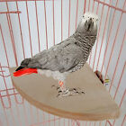 New Fan Wood Coin Parrot Bird Cage Perches Stand Platform Pet Budgie Hanging Toy