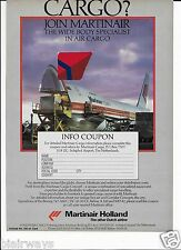 MARTINAIR HOLLAND BOEING 747-200C FRIEGHTER WIDE BODY SPECIALIST 1988 AD