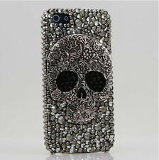 Hot Gray Skull Crystal Black Finished HARD Case cover for APPLE iPhone 5 5S AECD