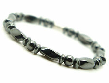Hematite Beads Bracelet Magnetic Clasp Pain Relief Energy Powerful 7.5""