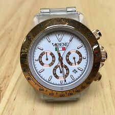 Luxury Vabene Clear Plastic Analog Quartz Chronograph Watch Hour~Date~New Batter