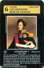Louis-Philippe I ROI FRANCE PLAYING CARD CARTE A JOUER