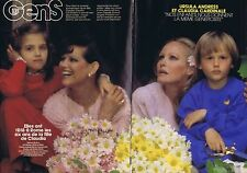 Coupure de presse Clipping 1985 Ursula Andress & Claudia Cardinale  (4 pages)