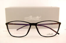 New Silhouette Eyeglass Frames SPX Illusion Fullrim 1560 6050 Black Women Men