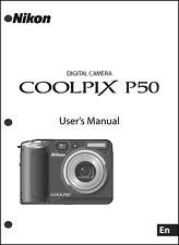 Nikon CoolPix P50  Digital Camera User Guide Instruction  Manual