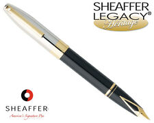 Sheaffer Legacy Heritage Palladium / Black Onyx Laque Fountain Pen Fine 9030-0B