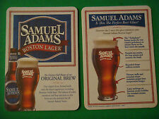 BEER Brewery Coaster ~*~ SAMUEL ADAMS Lager in the Perfect Glass, Boston Beer Co