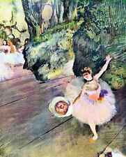 A3 Box Canvas Dancer with a bouquet of flowers The Star of the ballet by Degas