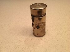 Vintae Colgate & Co Shaving Stick W/ Lid New York Aluminum Empty Canister Intact