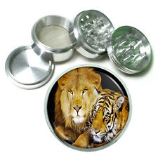 Lion Aluminum Grinder D9 63mm 4 Piece Wild Animal Africa King of the Jungle Big