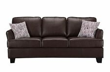 Kings Brand Furniture Brown Faux Leather Queen Size Sofa Hide a Bed Sleeper ~NEW