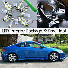 6PCS Bulb Xenon White LED Interior Lights Package kit Fit 2002-2006 Acura RSX J1