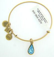 NEW ALEX AND ANI LIVING WATER CHARM BANGLE WITH GOLD FINISH 172