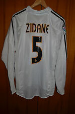 REAL MADRID SPAIN 2004/2005 FOOTBALL SHIRT JERSEY CAMISETA LONG SLEEVE #5 ZIDANE