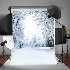 3x5ft  Christmas Winter Ice Snow Vinyl Background Studio Photography Backdrops