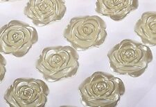 24pcs 19mm Pearl Rose Flower Self Adhesive Diamante Stick on Gem