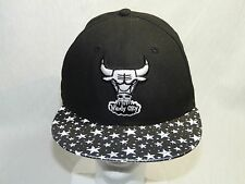 "New Era 9Fifty Chicago Bulls ""Windy City"" SnapBack Hat with Stars on Brim M-L"