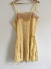 Antique French 1920s Playsuit Teddy Nightdress Embroidered Pure Silk & Lace