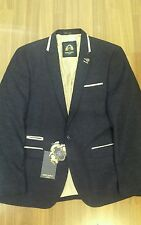 Mens designer Marc Darcy Harrington tweed glen blazer  blue size 46R sale cheap