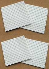 "LEGO Large Plate 16x16 5""x5"" (pack of 4) WHITE flat Base 16 x 16 baseplate snow"