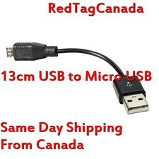 13cm USB to Micro USB Data Sync Charger Cable for Samsung HTC Nokia Black - CAN