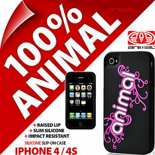 New Animal Corp Silicone Case Slim Black Cover Shell for Apple iPhone 4 / 4S