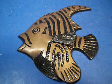 CUTE BRASS ANGEL FISH WITH PAINTED AND GLITTERED ACCENTS
